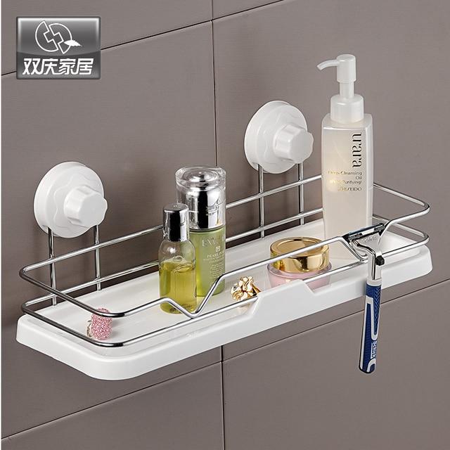 Charmant Strong Suction Cup Well Mounted Bathroom Shelves Storage Shower Gel Rack  Bath Foam Shelves Bathroom Sets