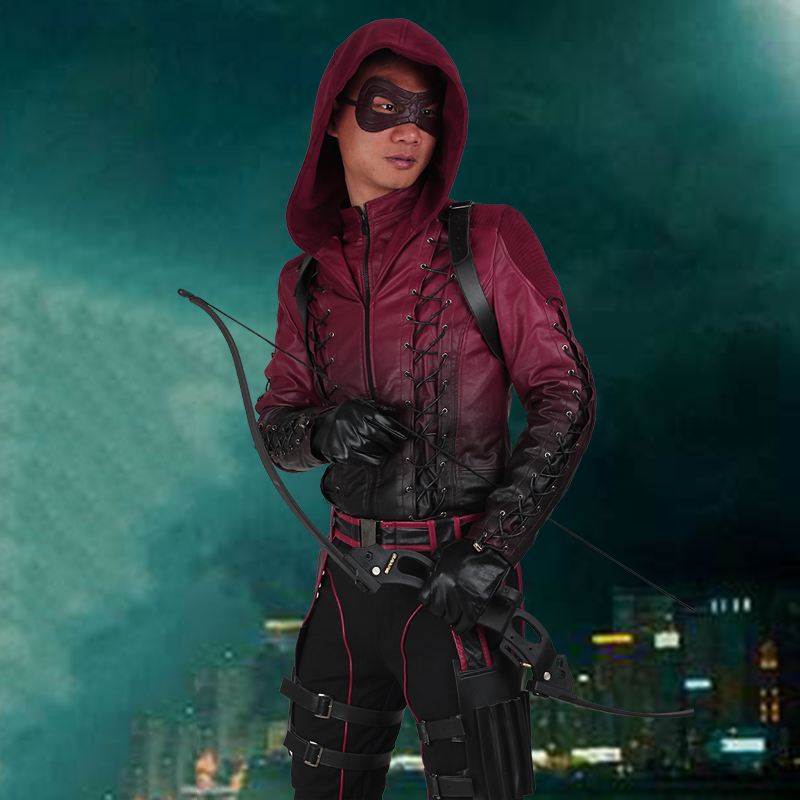 Red Arrow Roy Harper Cosplay Costume Green Arrow Season 3 Cosplay Outfit Halloween Superhero Men Suit Party Custom Made Adult