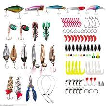101 шт./компл. линия ножницы искусственная рыба червь спиннинг Крючки рыболовные, приманки блестки сумка для оборудования пресноводные поддельные бионические приманки