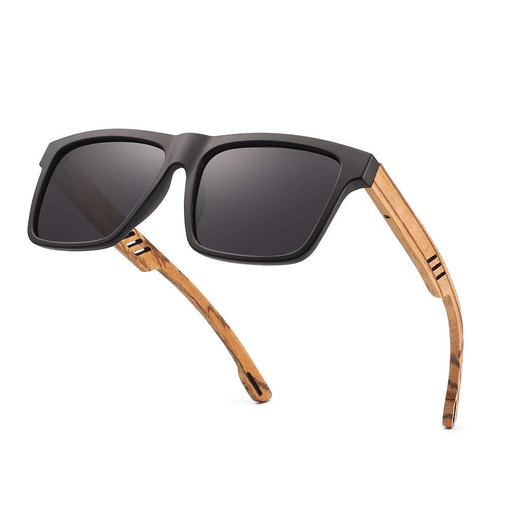 Image 3 - Hu Wood  2018 New High Quality Square Sunglasses Men Polarized UV400 Fashion Sunglass Mirror Sport sun glasses  Driving oculos-in Men's Sunglasses from Apparel Accessories