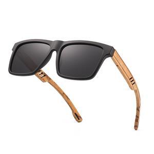 Image 3 - Hu Wood  2020 New High Quality Square Sunglasses Men Polarized UV400 Fashion Sunglass Mirror Sport sun glasses  Driving oculos