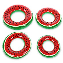 4 Size Watermelon Shape Inflatable Swimming Ring Beach Pool Float Swim Circle for Adults Children(China)