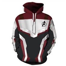 Marvel The Avengers 4 Endgame Quantum Realm Cosplay Costume Hoodies Men Hooded Zipper End Game Sweatshirt Jacket
