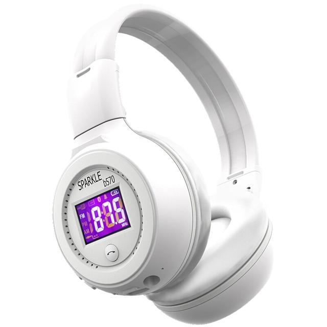 Słuchawki bezprzewodowe z bluetooth zestaw słuchawkowy Stereo HiFi z mikrofonem Radio FM karty Micro SD gra dla iphone huawei samsung