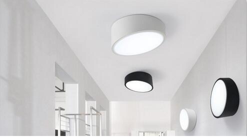 Современные Геометрические светодиодный потолочный светильник круг украшение дома Спальня свет коридор потолочный светильник D250MM