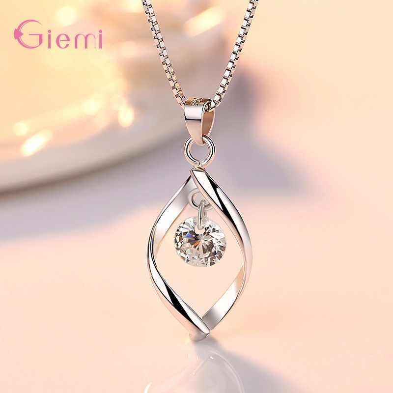 Neue Trendy Schmuck Set 925 Sterling Silber Zirkonia Perle Handgemachte Rotation der Liebe Frauen Tropfen Ohrringe Anhänger Halskette