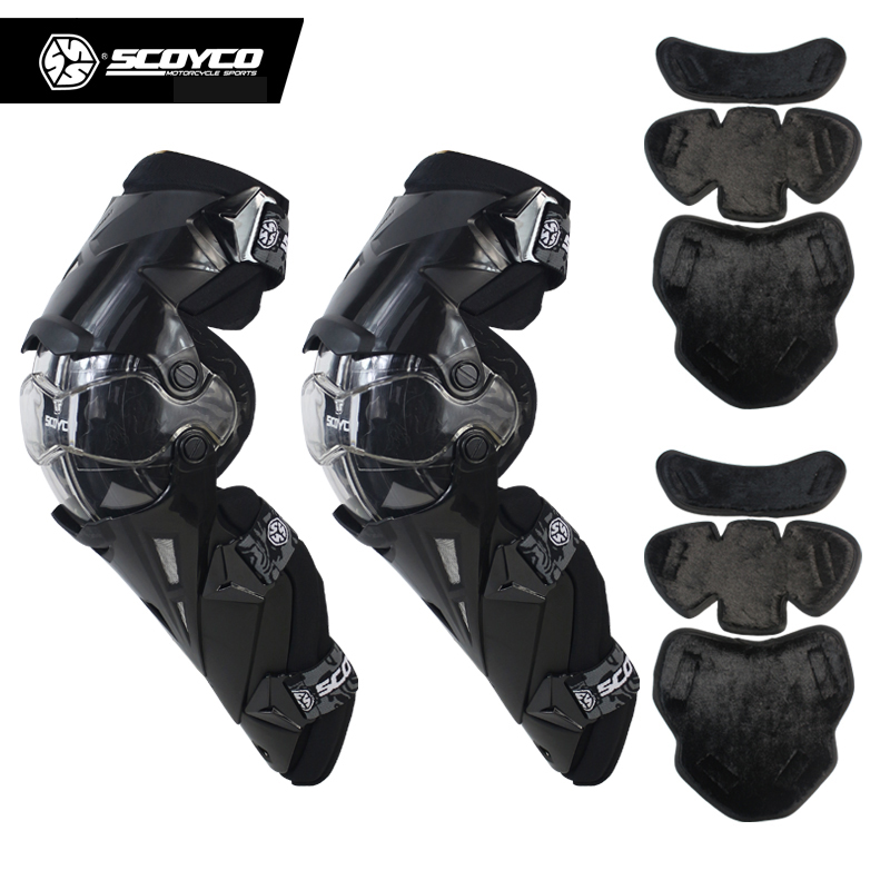 CE Approval Scoyco K12 Move Freely Motorcycle Knee Protector Motocross Racing Knee Guards MX moto Knee