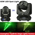2XLot LED Spot Moving Head Light 60W Led Moving Head Beam Spot Stage Lighting 10/12 Channels For Professional Stage Disco Lights