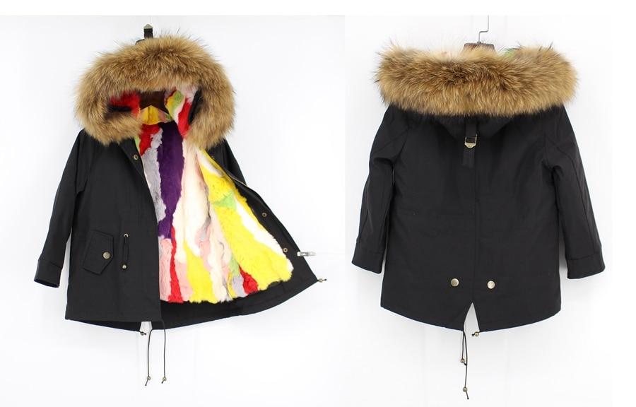 childred winter natural fur parka (9)