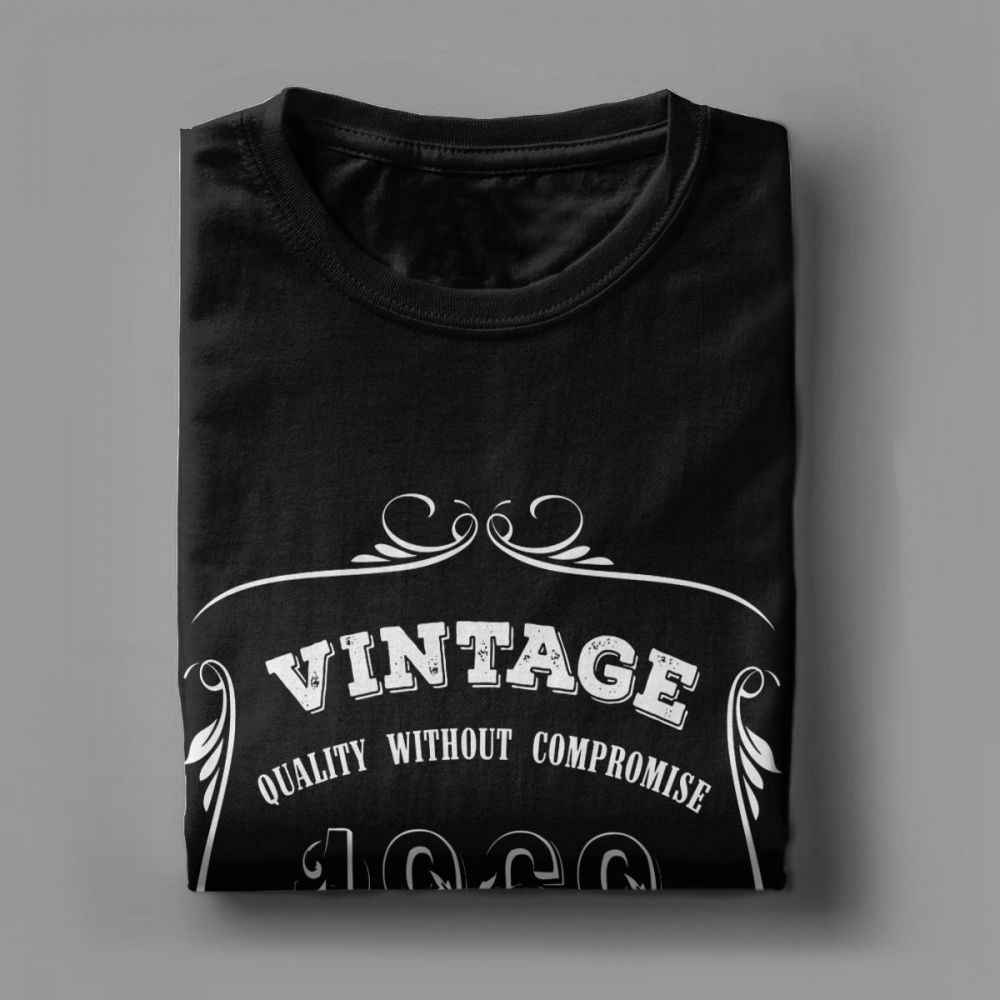5241e8f8e ... Men Vintage 1969 50 Years Old T-Shirts 50th birthday Novelty Crew Neck  Short Sleeved ...
