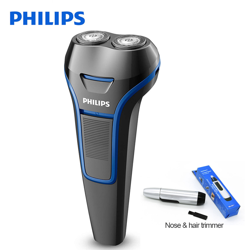 Galleria fotografica <font><b>Philips</b></font> Electric Shaver S100 Rotary Rechargeable Portable Handle Body Washable For Men's Electric Razor With Ni-MH Battery