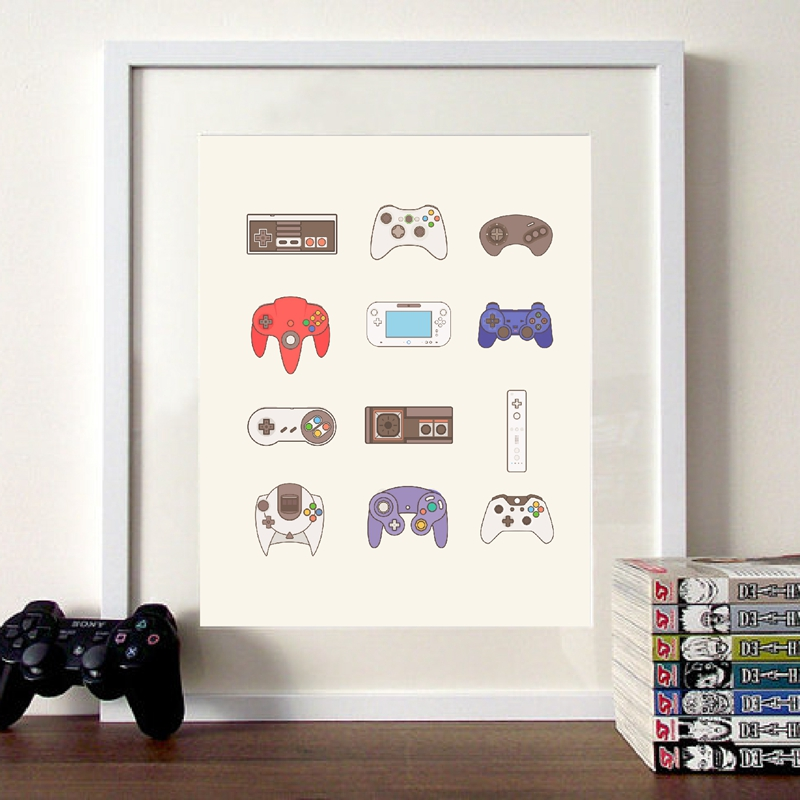 Xbox One Video Game Controller Poster And Prints Canvas Art Painting
