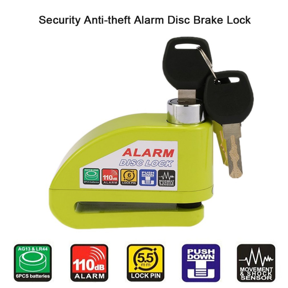 Universal Moto Motorcycle Alarm Lock Disc Lock Security Anti-theft Alarm Lock Scooter Bicycle Disc Brake Lock with 3 Keys fidloc bicycle disc brake lock set blue