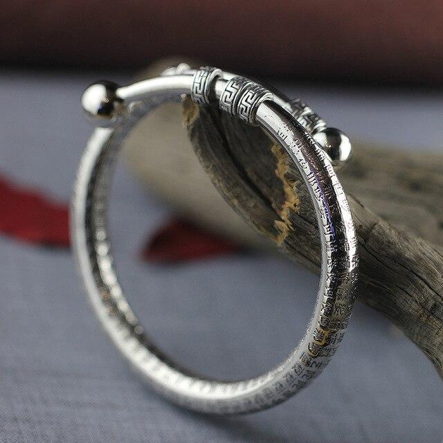 Браслет и браслет из серебра 925 пробы 2018 винтажные буддистские