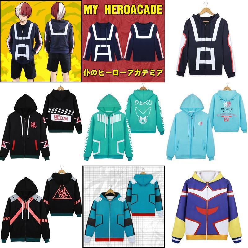My Boku no Hero Academia Todoroki Shoto Hoodie Sweatshirt Jacket Cosplay Costume