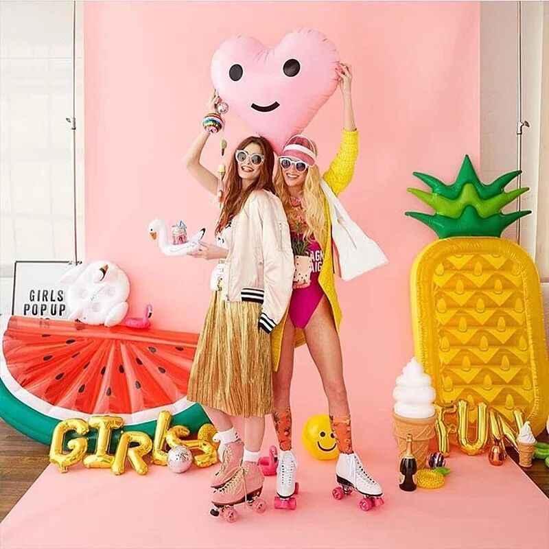 180*90cm abacaxi inflável flutuante drenagem cama bebê piscina brinquedo jantar carrinho infantil portátil jogar jogo esteira sofás