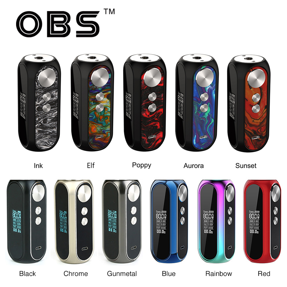 Original OBS Cube VW Box MOD 3000mAh Battery Electronic Cigarette Max 80W Output With 0 01s