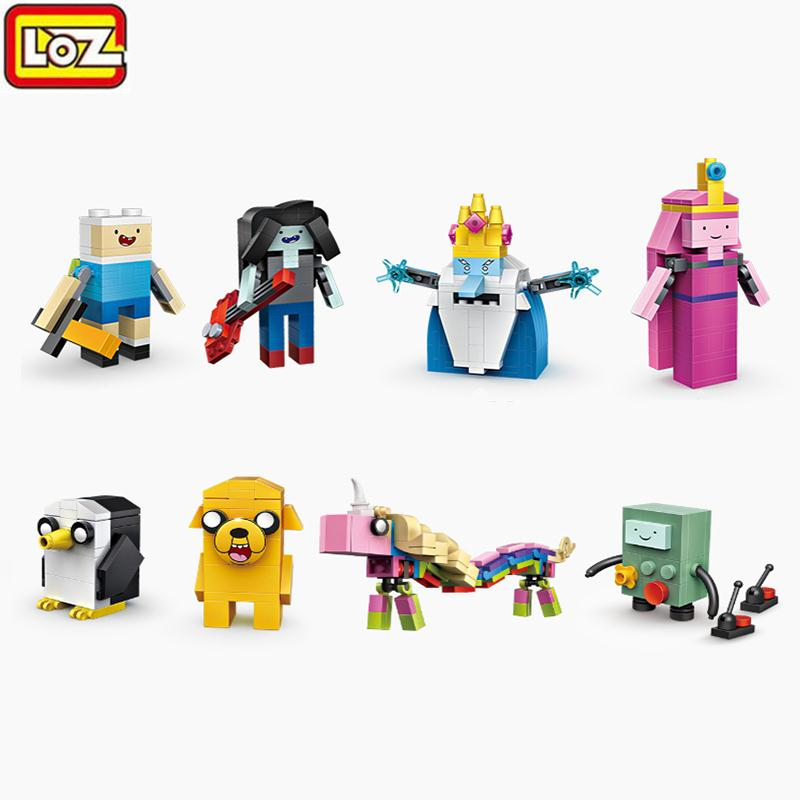 545PCS 8 In 1 LOZ Mini Building Blocks Cartoon Figures Adventure Time Building Bricks Model Educational Assembly Toys Gift 2015 new gift smae as loz building blocks small animal minion mario transformation minifigures cartoon characters 3d bricks toys