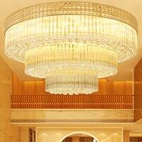 Кристалл Потолочные светильники приспособление Светодиодные лампы современные золото круглый потолочный светильник Гостиная дома Освеще