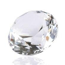 1 шт. 40 мм искусственный бриллиант прозрачный кристалл резка стекло пресс-папье свадебные украшения дома ремесла bijoux sieraden