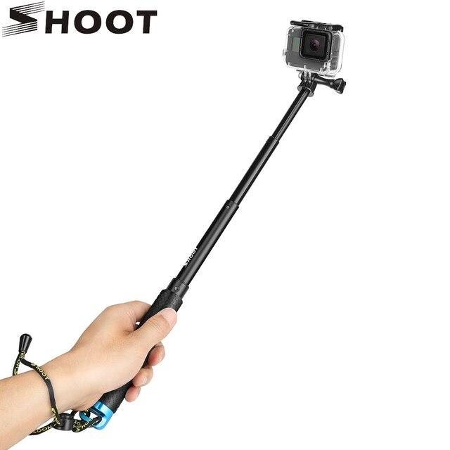 SHOOT Portable Selfie Stick Extend Monopod Mount for GoPro Hero 9 8 7 6 5 Black Xiaomi Yi 4K Sjcam Sj4000 Eken Camera Accessory