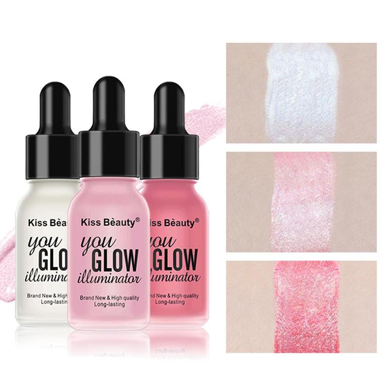 Liquid Highlighter Beauty Illuminating Oil Glitter Shimmer Concealer Fond De Teint Peau Noir Makeup Cosmetic Base Maquiagem