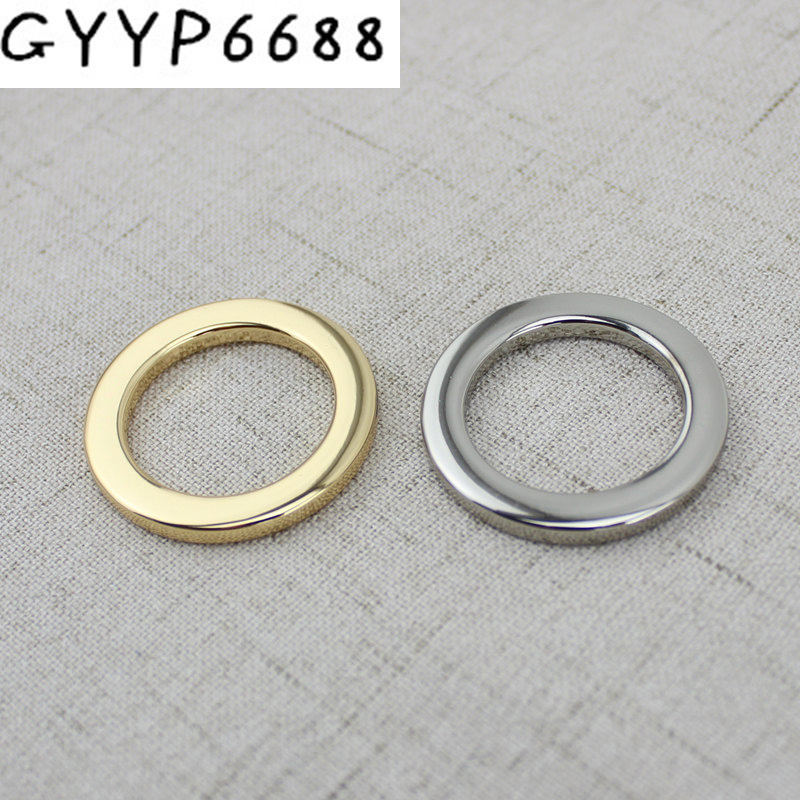 10pcs 50pcs 25mm 32mm Welded Rings O Rings Bags' Accessories Alloy Backpack Connector Harness Bag Parts Belt Buckles Metal