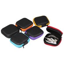 Multi-function Mobile Phone Charger Data Line Storage Bag Mini Portable Anti-pressure Square Headphone Collection Container(China)