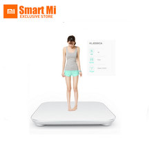 Original free shipping Xiaomi smart household scales Original mi weight Digital scale For Android 4.4 iOS7.0 Above White(China)