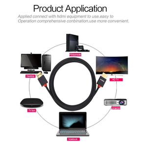 Image 4 - Lungfish 4K כבל HDMI במהירות גבוהה HDMI 3D 1080P כבל עבור PS3 מקרן 1m 2m 3m 24K זהב מצופה hdmi כבלי 3840*2160 @ 60Hz