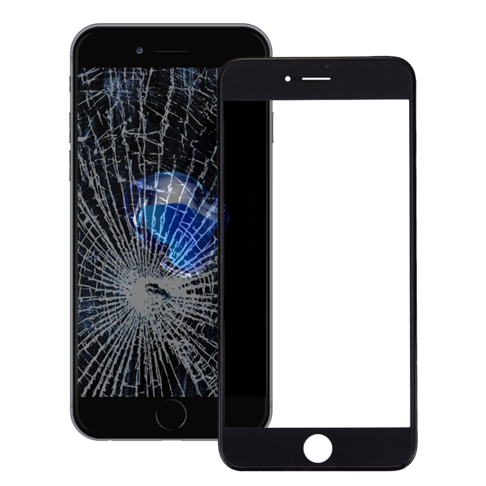 iPartsBuy For iPhone 7 Front Screen Outer Glass Lens with Front LCD Screen Display Bezel Frame And OCA Optically Clear Adhesive бп atx 350 вт exegate ex219182rus