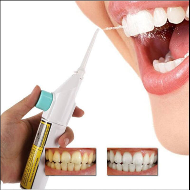 Dropshipping 1 Pcs Portable Power Floss Dental Water Jet Tooth Pick No Batteries Dental Cleaning Whitening Cleaner Kit