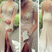 Hazy beauty Online Mermaid Prom Dresses Long Sleeves
