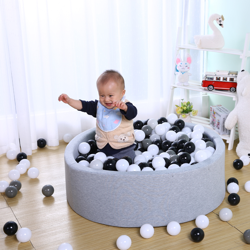 50pcs Baby Safe Soft Plastic Balls Play Ocean Balls For Kids Black White Gray Anti Stress Balls For The Pool Children Toy Gift