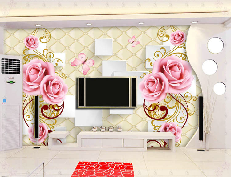Beautiful Flowers Design Of Large Modern New Special Decorate Household Wallpaper Wall Paintings York In Wallpapers From Home Improvement On