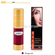 Hao Tattoo JX23 Rouge Red Eyebrow Permanent Makeup Pigment Vacuum Sterile Cosmetic Tattoo Ink 45ml Makeup Supplies