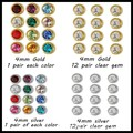 12 Birthstone CZ Gem 316L Stainless Steel 4mm Ear Studs Earring Fashion Jewelry Pin Earrings Studex For Charms Women
