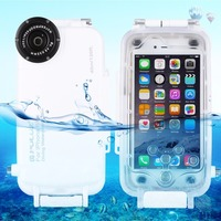 PULUZ עבור iPhone 6 & 6 s 0 m/130ft תמונה לקיחת וידאו מתחת למים שיכון צלילה עמיד למים כיסוי מקרה