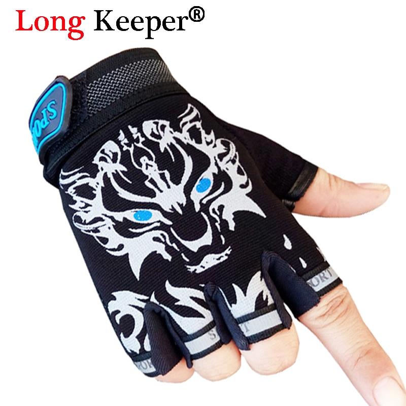 Wolf Gloves For 5-13 Years Kid Non-slip Breathable Sports Guantes Boys Girls Fingerless Gloves Long Keeper Cool Children Gloves Gloves & Mittens