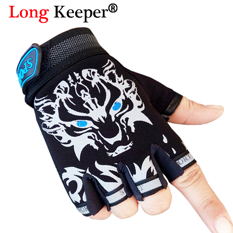 Long Keeper Cool Gloves! Children Sport Gloves For 4-12 Years Girls&Boys Half Finger Non-Slip Breathable Mittens Cartoon Gloves