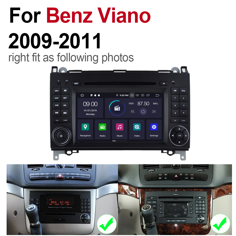 2 din Android 9 0 Octa Core 4GB RAM Car DVD For Mercedes Benz Viano 2009 2011 NTG GPS Radio BT Navi MAP Multimedia player system in Car Multimedia Player from Automobiles Motorcycles