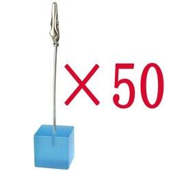 Lot 50pcs aqua blue cube wire card notes picture memo photo clip holder wholesale fashion new.jpg 250x250