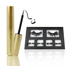 Magnetic Eyeliner Magnet False Eyelashes Set Waterproof Natural Long Lasting Liquid Kit