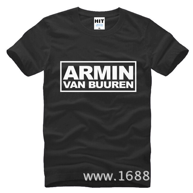 83219bc692e men tee shirt DJ Armin Van Buuren T Shirts Men Cotton Summer MC Club T-shirt  Short Sleeve Hip Hop T Shirt Tops Tees