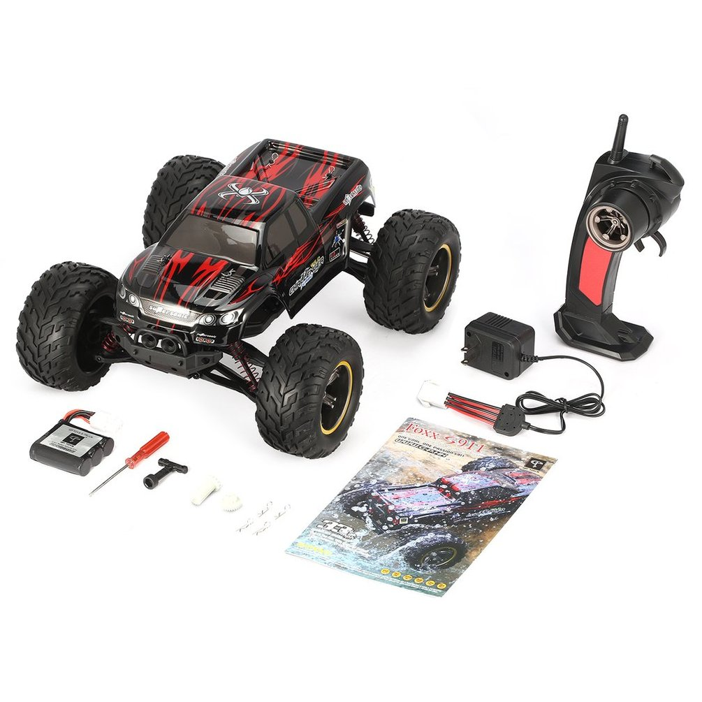 GPTOYS Foxx S911 2.4GHz 4CH 1/12 Scale blue/red RC Car 2WD 40km/h High Speed Big Wheels Off-Road Truck Super Power Electric Car