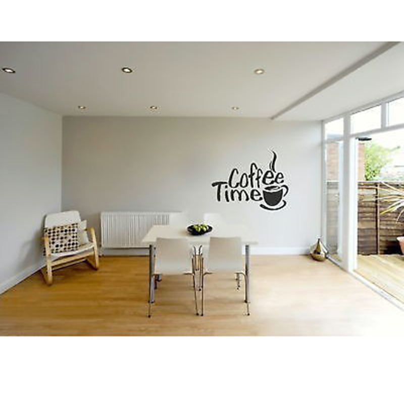 ... Time Cafe Wall Decals Murals Dining Room Kitchen Coffee Shop Wall Decor  Home Decoration Wall Art ... Part 98