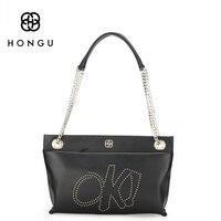 Hongu donne borse in vera pelle designer casual catene messenger borse con tracolla hobo delle signore alla moda borsa a tracolla 2017 nuovo
