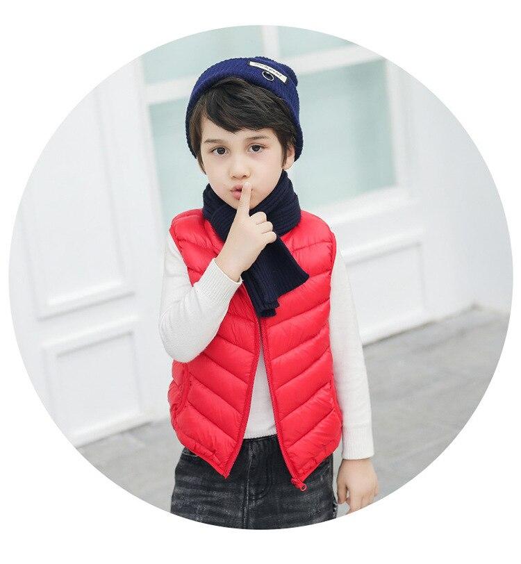 Hooded Child Waistcoat Children Outerwear Winter Coats Kids Clothes Warm Cotton