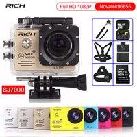 Action Camera Full HD 1080P NTK96655 Wifi 170D Lens Go Pro Style Sj 7000 Diving
