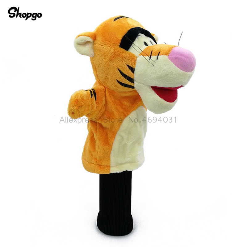 Orange Tiger Golf Head Cover Fairway Woods Golf Cover Sporting Goods Animal Protector Mascot Novelty Cute Gift